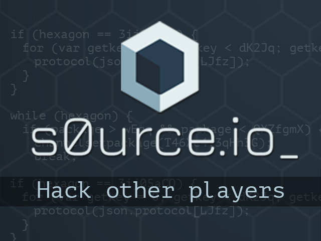 s0urce io - The Hacking Game